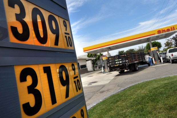You can save 5 cents a gallon on gas at Shell stations if you sign up for the company's Fuel Rewards program. (File photo by Michael Goulding, Orange County Register/SCNG)