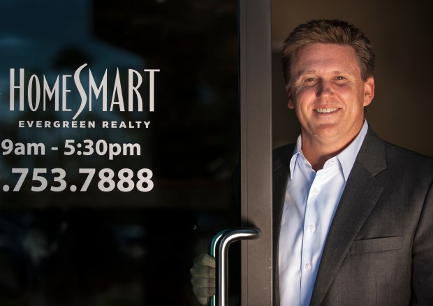 HomeSmart Evergreen Realty CEO Randy Rector in the company's Irvine office. (Photo by Mindy Schauer,Orange County Register/SCNG)