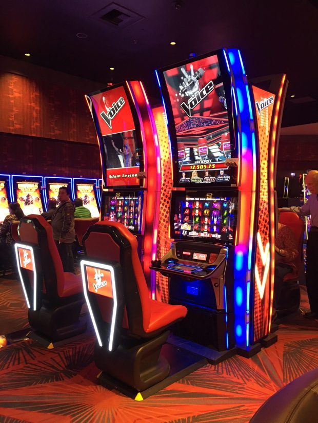 "New slot machines based on the hit singing competition ""The Voice"" land at San Manuel Casino. (Courtesy of San Manuel Casino)"