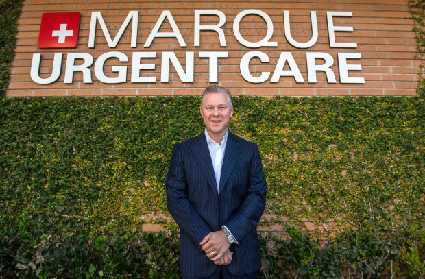Pierre Bergougnan, CEO of Marque Medical in Newport Beach, one of the Top Workplaces in Orange County. Photographed in Newport Beach on Thursday, October  26, 2017. (Photo by Mark Rightmire, Orange County Register/SCNG)