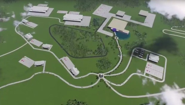Rendering of EnerBlu's new manufacturing facility to be built in Pikeville, KY. (PRNewsfoto/EnerBlu, Inc.)