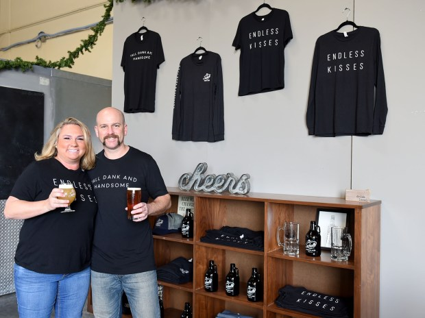 For the beer lover and last minute shopper you can visit Jason and Allison Kolb at Scholb Premium Ales in Torrance where they have plenty of t'shirts, glasses, bottles, hats and more for sale.Torrance December 22, 2017. Photo by Brittany Murray, Daily Breeze/SCNG