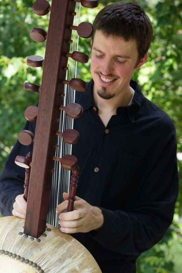 Sean Gaskell with the kora (Courtesy Photo)