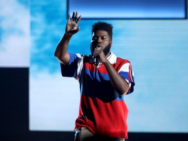 R&B singer-songwriter Khalid will bring his Roxy North American Tour to the Greek Theatre in Los Angeles on Wednesday, May 9 and Thursday, May 10. (Photo by Matt Sayles, Associated Press)
