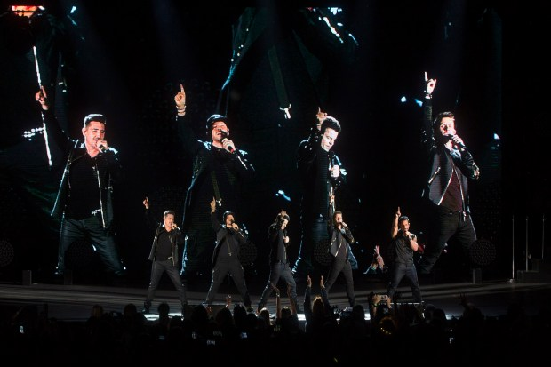Boy band New Kids on the Block made a huge comeback in 2017 with its Total Package tour that also featured Paula Abdul and Boyz II Men. (Photo by Drew A. Kelley, contributing photographer)