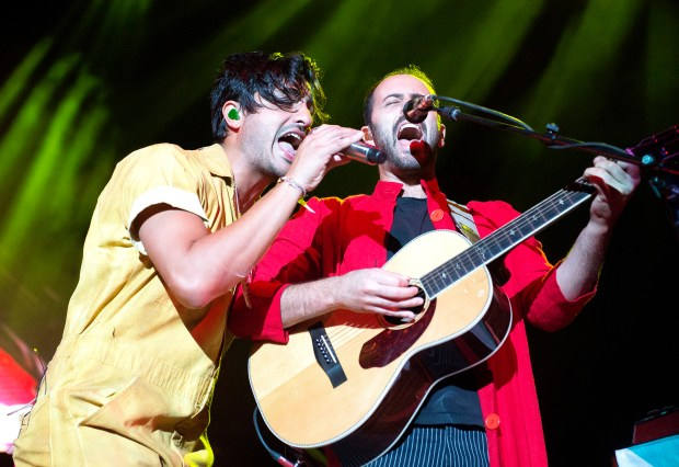 Irvine-based rock band Young the Giant christened the brand new FivePoint Amphitheatre in Irvine on Thursday, Oct. 5. (Photo by Matt Masin, Orange County Register/SCNG)