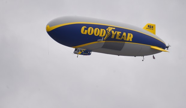 Aerial views from the new Goodyear airship Wingfoot Two over Long Beach on Thursday, November 2, 2017. The Wingfoot Two replaces the previous blimp and will also be based in Carson. (Photo by Scott Varley, Daily Breeze/SCNG)