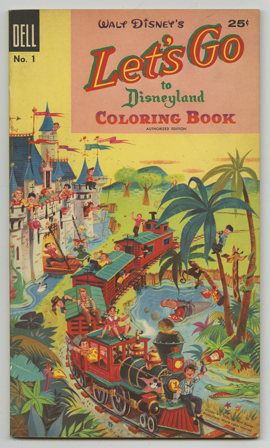 This 1956 Disneyland coloring book sold for $165 on Dec. 16, 2017. Photo and descriptions courtesy of Van Eaton Galleries, Sherman Oaks.