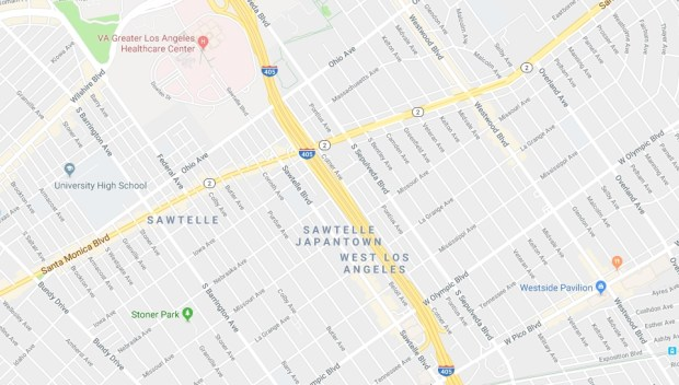 After an LAPD officer was struck late Monday, Dec. 11, 2017, by a suspected DUI driver, the northbound 405 Freeway was shut down. The southbound side was closed until 5 a.m. for a separate accident. (Google Maps)