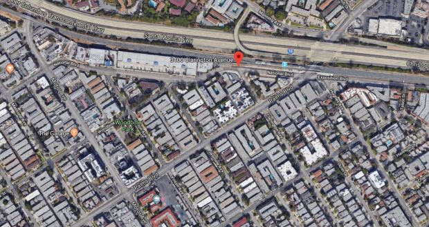 Two men suspected in a home-invasion robbery in the Palms area of Los Angeles early Wednesday, Dec. 20, 2017, were arrested after the neighborhood was searched with the help of a helicopter. (Google Maps)