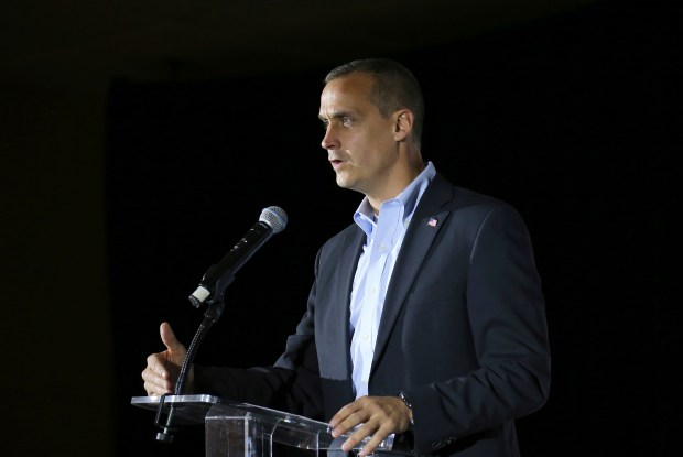 A singer and potential congressional candidate, says she has filed a sexual assault complaint against former Donald Trump campaign manager Corey Lewandowski for hitting her twice on her buttocks during a Washington gathering in November. (AP Photo/Mary Schwalm, File)