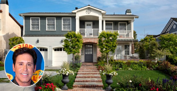 Danny Gans, who was a popular Las Vegas performer, owned this Corona del Mar house before he died at age 52 in 2009. (Composite by Marilyn Kalfus, Orange County Register/SCNG; Inset: File photo; House: Andrew Bramasco)
