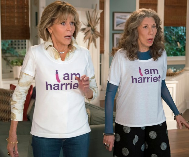 "Jane Fonda and Lily Tomlim star in a fourth season of ""Grace and Frankie"" on Netflix in January."