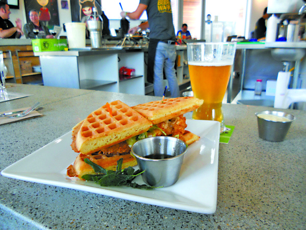 Iron Press was known for bringing craft beer to the waffle sandwich craze.