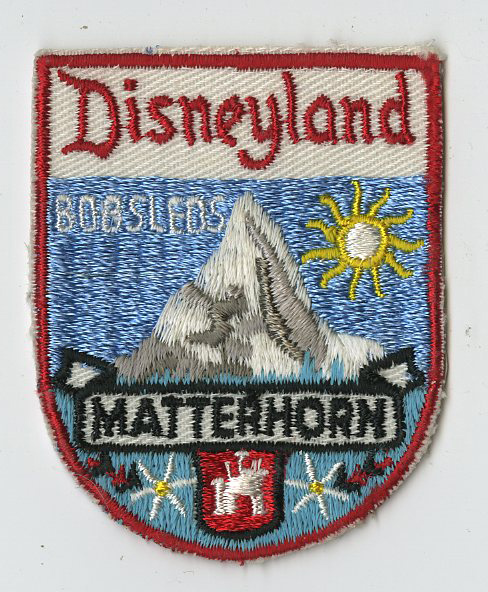 An early embroidered patch depicting the crest of the Matterhorn Bobsleds, worn on Disneyland cast member's Tyrolean shirts, sold for $375. Photo and descriptions courtesy of Van Eaton Galleries, Sherman Oaks, CA.
