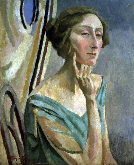 SAG52936 Portrait of Edith Sitwell (1887-1964), 1915 (oil on canvas) by Fry, Roger Eliot (1866-1934)oil on canvas © Sheffield Galleries and Museums Trust, UK English, out of copyright