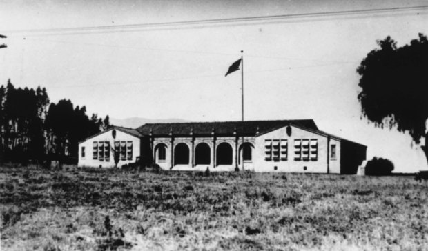 This photo of Jefferson Grammar School, now Thomas Jefferson Elementary School, was taken in about 1927, after construction was done. The Corona school was recently added to the National Register of Historic Places and is celebrating its 90th birthday at 9 a.m. Dec. 15. Photo courtesy of Corona Public Library