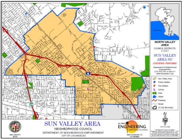Sun Valley Area Neighborhood Council Map