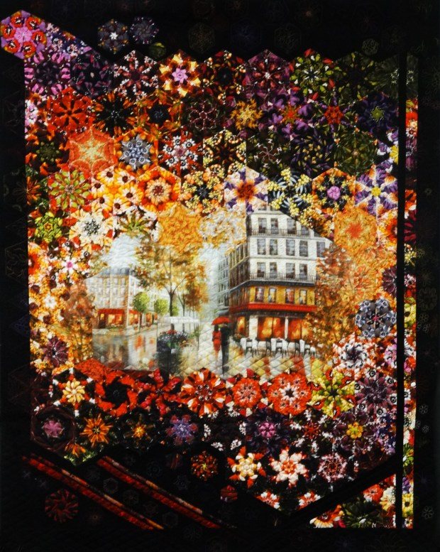 """The Citrus Belt Quilters guild unveiled its opportunity quilt, a fundraiser for 2018: """"Autumn Amour."""" (Courtesy photo)"""