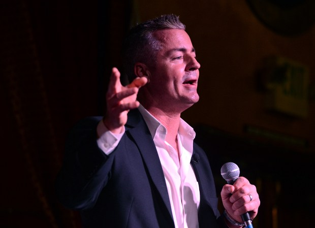 Assemblyman Travis Allen answers a question during the GOP Gubernatorial Debate hosted by the Redlands Tea Party Patriots at Mill Creek Cattle Co. in Mentone, CA., Thursday, January 4, 2018. (Staff photo by Jennifer Cappuccio Maher/The Facts/SCNG)