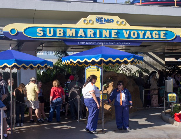 "Visitors to Disneyland can go on a trip underwater in the Finding Nemo Submarine Voyage. While the current attraction has an adventure based on the Disney-Pixar movie ""Finding Nemo,"" the submarines are upgraded versions of the original ""Submarine Voyage"" that debuted in 1959. (Photo by Mark Eades, Orange County Register/SCNG)"