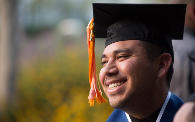Jesse Navarro graduated with a nursing degree in 2015's commencement ceremonies at Cal State Fullerton. (Photo courtesy of Cal State Fullerton)