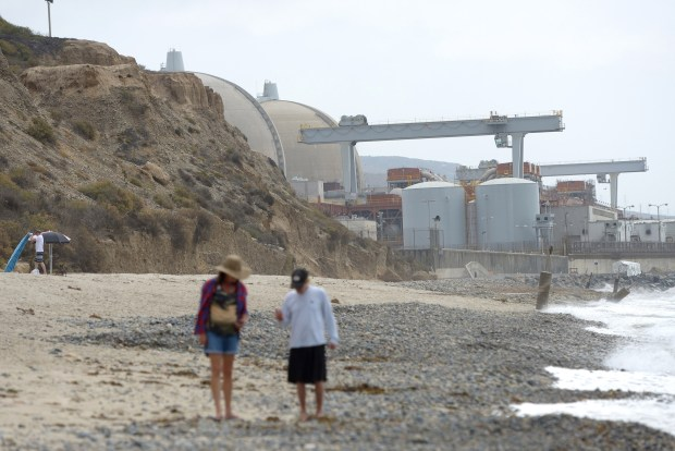 The San Onofre Nuclear Generating Station, seen from San Onofre State Beach in 2016. (File photo by Jeff Gritchen, Staff Photographer)(Photo by Jeff Gritchen, Orange County Register)