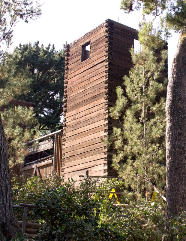 Fort Wilderness still stands guard on Tom Sawyer Island, though it is no longer open to the public and is used as a dressing room for Fantasmic performers. (File photo by Mark Eades, Orange County Register/SCNG)