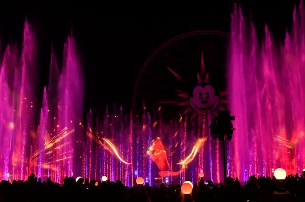 """Hurry Home - Lunar New Year Celebration"" touts the Year of the Dog before the start of World of Color on the first day of Disney's Lunar New Year celebration at California Adventure in Anaheim on Friday, Jan 26, 2018. (Photo by Jeff Gritchen, Orange County Register/SCNG)"