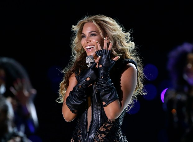 Beyonce performs during the Pepsi Super Bowl XLVII Halftime Show football game between the San Francisco 49ers and the Baltimore Ravens, in New Orleans. (File photo by Mark Humphrey, Associated Press)