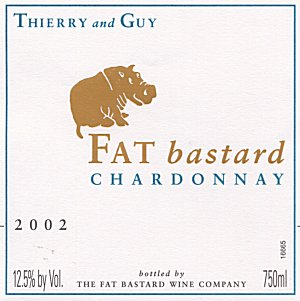 Fat Bastard: Research has found that most consumers, especially younger ones, don't like hoity-toity wine labels. A couple of Frenchmen seized on this finding to create the masterpiece you see here. The wine itself has been well reviewed. The trick is not to look at the hippo when pouring. (Photo courtesy of Fat Bastard Wines)