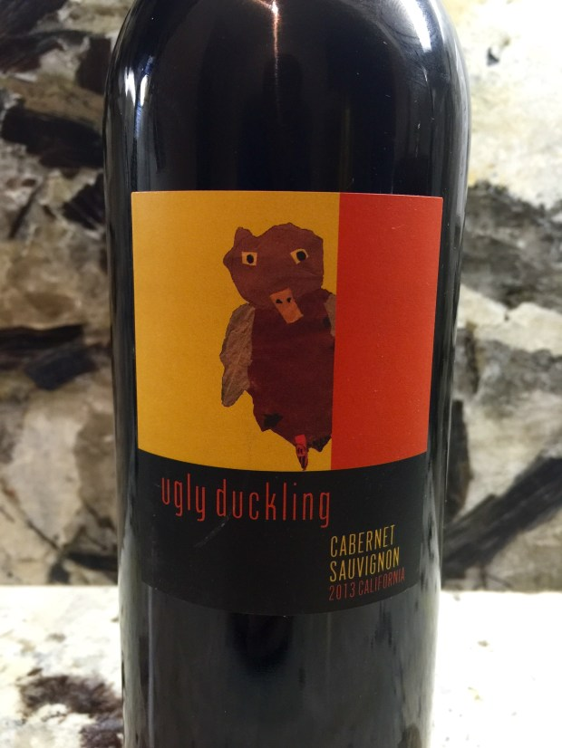 Ugly Duckling: The name itself doesn't offend me. But the illustration looks like a toddler's depiction of a mallard with murder on his mind. (Photo courtesy Ugly Duckling Wines)