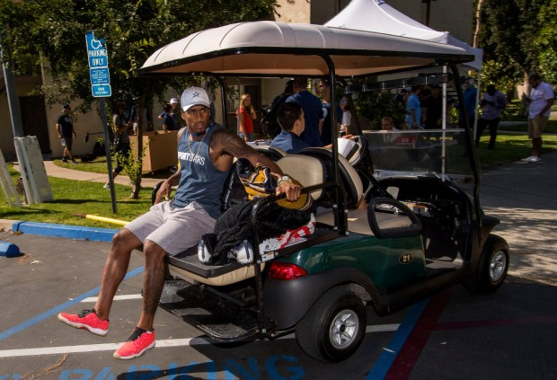 Rams rookie John Johnson II arrives at UC Irvine for the start of training camp in Irvine on July 26, 2017. (Photo by Paul Rodriguez, Orange County Register/SCNG)