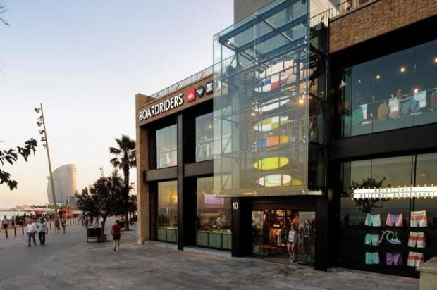Boardriders store in Barcelona, Spain. (Photo courtesy of Boardriders Inc.)