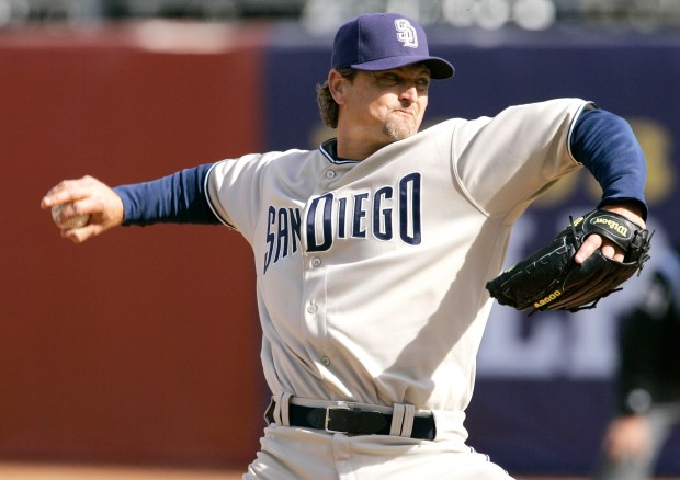 Former San Diego Padres relief pitcher Trevor Hoffman fell just short of the 75 percent of the votes needed to be inducted into the Hall of Fame last year. Will he have enough this time around? (AP Photo/Robert F. Bukaty)