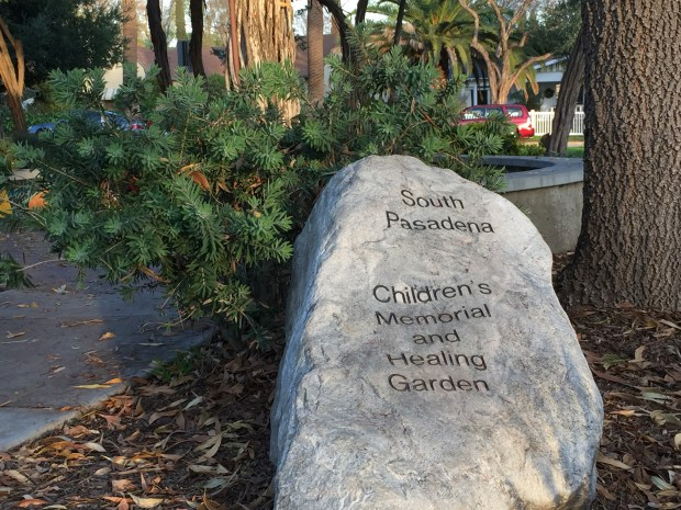 The healing garden is located in the north end of Garfield Park, at Mission Street and Park Avenue in South Pasadena.
