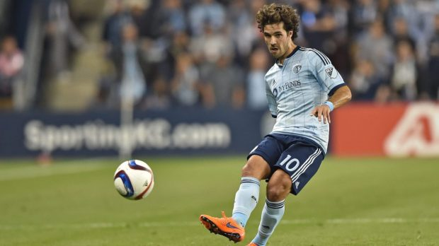The Los Angeles Football Club has acquired midfielder Benny Feilhaber from Sporting Kansas City for $400,000 of total Allocation Money. Feilhaber, 32, is a seven-year MLS veteran, having played with the New England Revolution (2011-12) and SKC (2013-17). He attended Northwood High in Irvine and UCLA. (Photo by Peter G. Aiken/Getty Images)