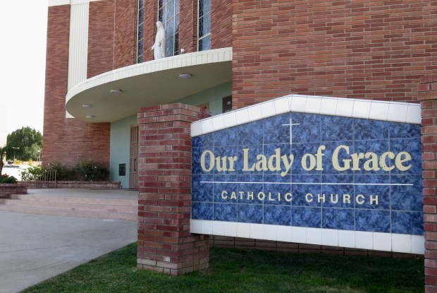 Our Lady of Grace Church in Encino, photographed Monday, Jan. 29, 2018. (Photo by Dean Musgrove, Los Angeles Daily News/SCNG)