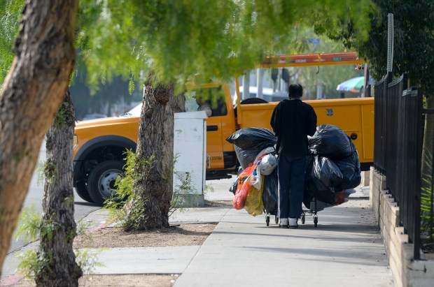 Los Angeles city leaders are planning to house dozens of homeless people in trailers on a city-owned downtown lot, which could become a model for citywide temporary shelters. (Photo by David Crane, Los Angeles Daily News/SCNG)