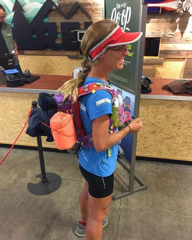 Natalie Larson walked more than 1,100 miles from Mexico to Oregon in 44 1/2 days.