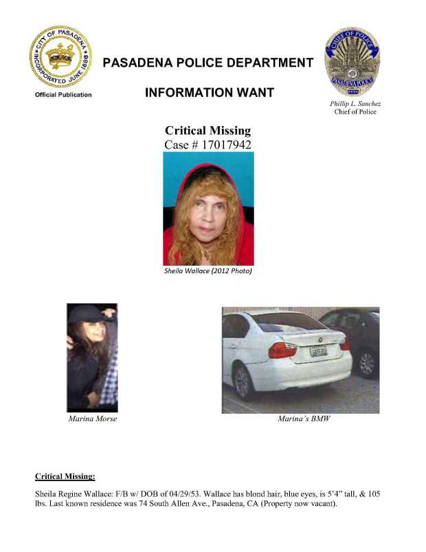 The Pasadena Police Department issued an information alert Monday, Jan. 1, 2018 about the missing women.