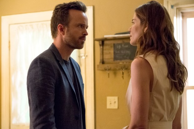 "Aaron Paul and Michelle Monaghan in Season 3 of Hulu's ""The Path,"" starting Wednesday."