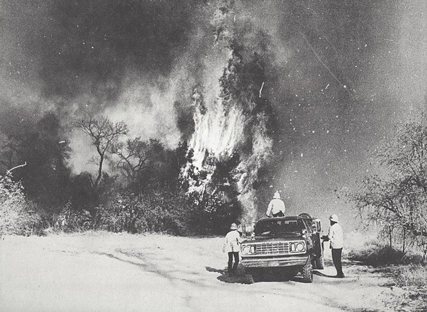 The 1980 blaze along the Santa Ana River in Riverside was the area's worst in the river bed.Courtesy photo