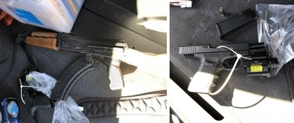 Deputies seized an assault rifle and a pistol following an 8-hour standoff at a home in Norwalk on Sunday, Jan. 28, 2018. (Courtesy, Los Angeles County Sheriff's Department)
