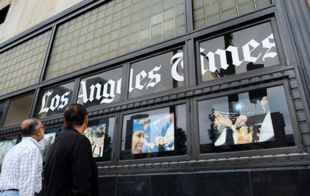 The sale of the Los Angeles Times to biotech billionaire Patrick Soon-Shiong is now official, the newspaper announced Wednesday, Feb. 7, 2018. (AP Photo/Richard Vogel,File)