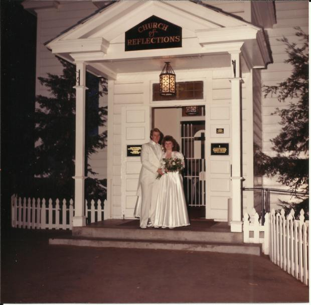 Lisa and James Johnson were wed in 1987 at the Church of Reflections. /Courtesy of Lisa Johnson