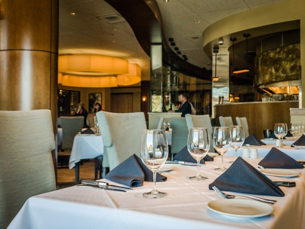 The original Fleming's Steakhouse at Fashion Island recently emerged from a long-overdue refurbishment. (Photo by Brad A. Johnson, Orange County Register/SCNG)