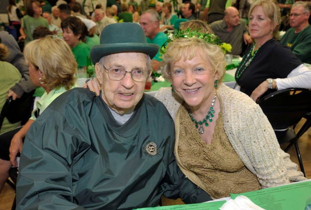 Jack and Tillie Domito of San Clemente were pictured at the Exchange Club of San Clemente's 2013 St. Patrick's Day event at the Community Center. (File photo by Jeff Antenore, Contributing Photographer)