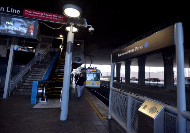 The Willowbrook/Rosa Parks Station Metro Blue Line. This station is slated to be renovated. Willowbrook February 21, 2018. Photo by Brittany Murray, Press Telegram/SCNG