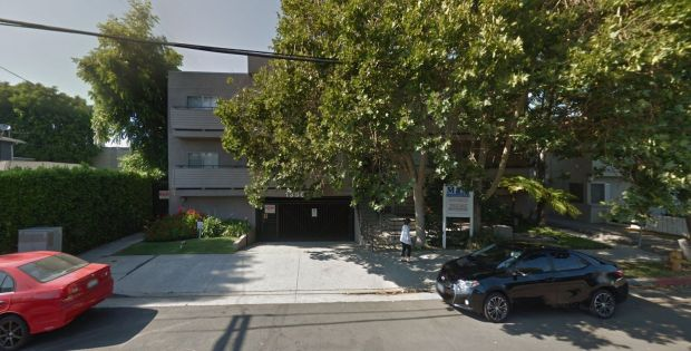 "The LAFD reported ""heavy fire"" on Monday, Feb. 12, 2018, at this Sherman Oaks apartment building at 13561 Moorpark St. (Google Street View)"